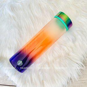 New Starbucks Sunset Ombre Chrome Glass Bottle 💜